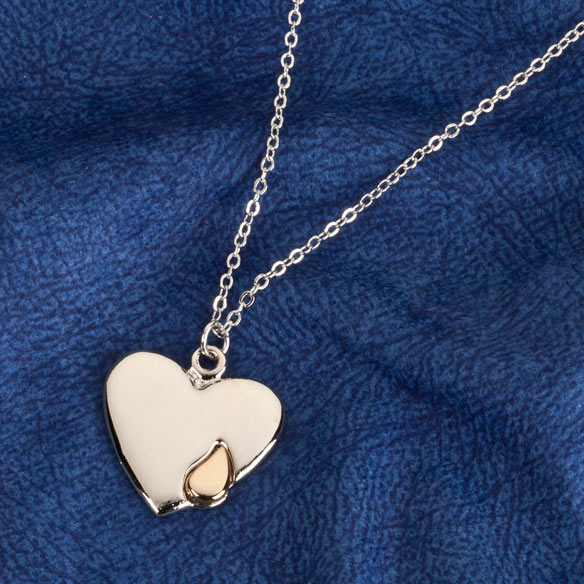 Personalized Teardrop Heart Pendant - View 2