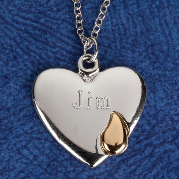 Personalized Teardrop Heart Pendant - View 5
