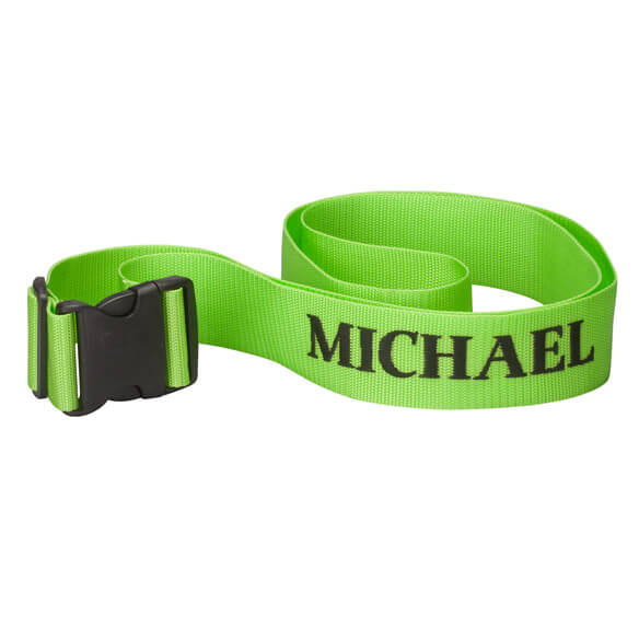 Personalized Green Luggage Strap - View 2