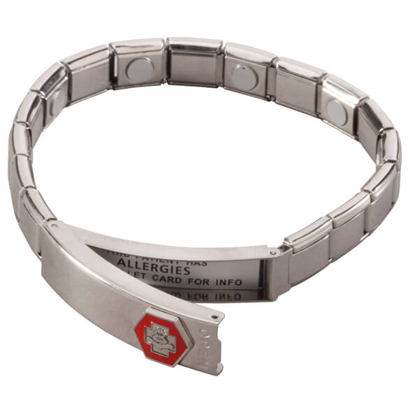 Medical ID Bracelet with Magnets - View 4