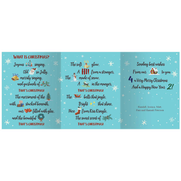 Personalized What is Christmas Cards - Set of 20 - View 2