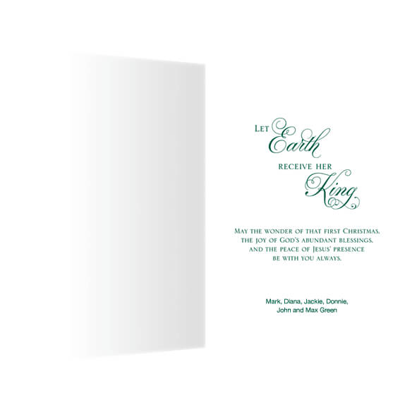 Personalized Joy to the World Christmas Cards - Set of 20 - View 2