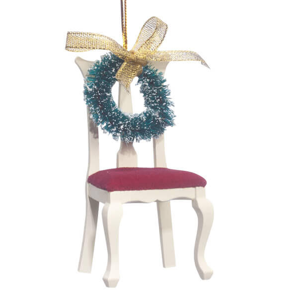 """An Empty Chair"" Memorial Ornament - View 2"