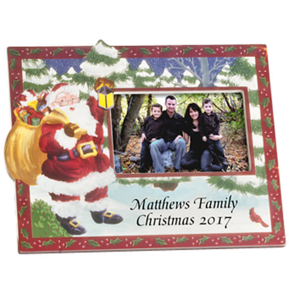 2017 Hand Painted Christmas Frame Horizontal - View 2