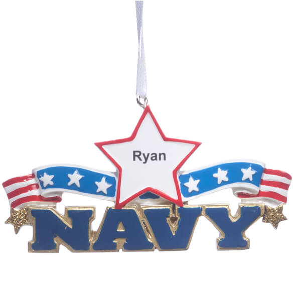 Personalized Resin Military Ornament - View 2