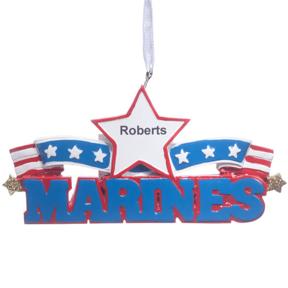 Personalized Resin Military Ornament - View 3