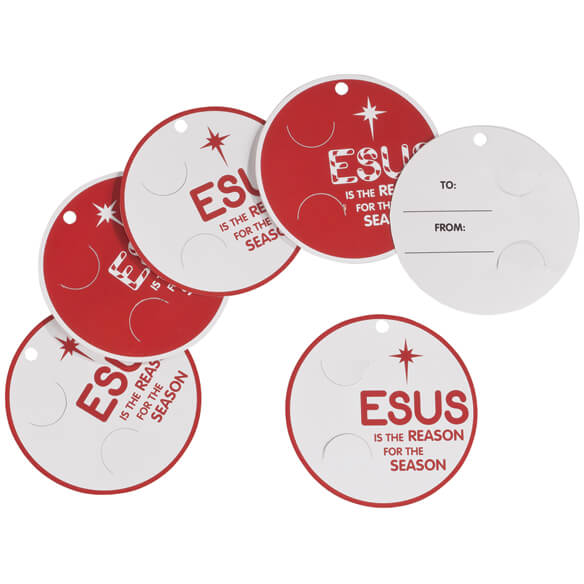 Jesus is the Reason Gift Tags, Set of 12 - View 2