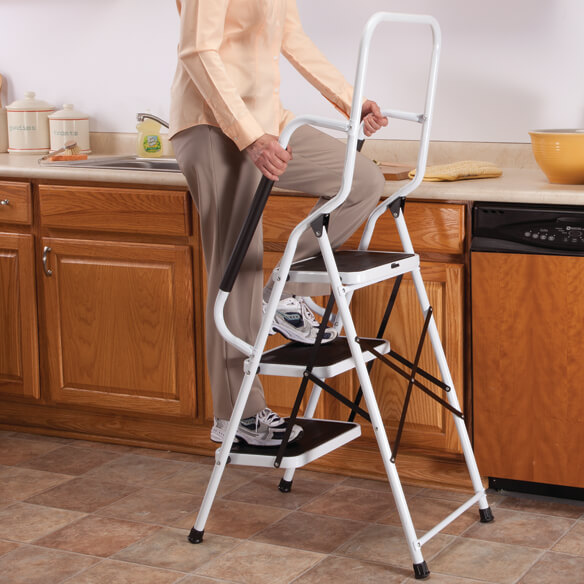 Step Ladder with Handles by LivingSURE™ - View 2