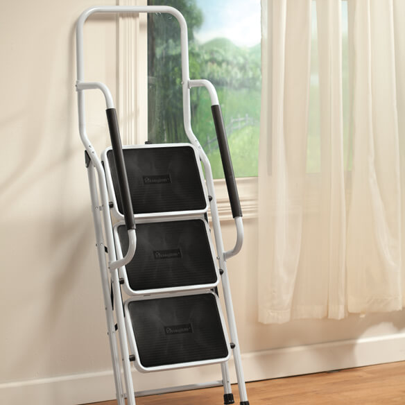 Step Ladder with Handles by LivingSURE™ - View 4