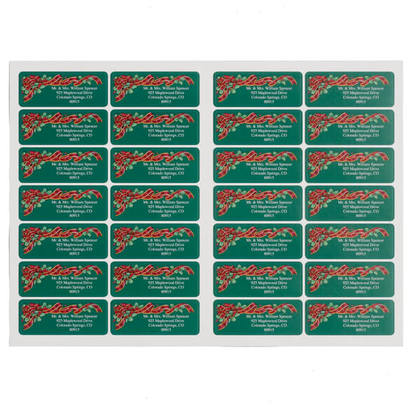 Christmas List of Blessings Address Labels Set of 200 - View 2