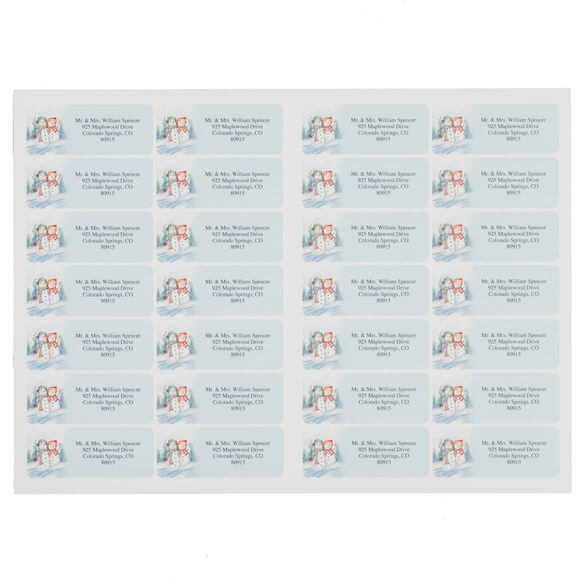 Snow Couple Address Labels Set of 200 - View 2