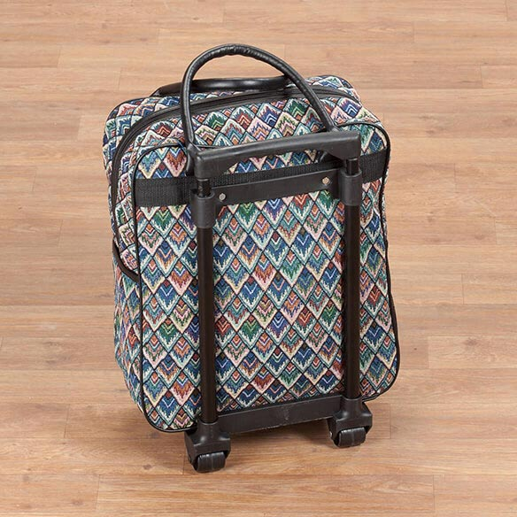 Diamond tapestry Rolling Tote - View 3