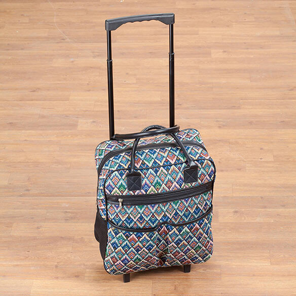 Diamond tapestry Rolling Tote - View 4