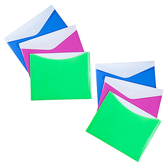 Large Poly Envelopes with Snap Closure, Set of 6 - View 2