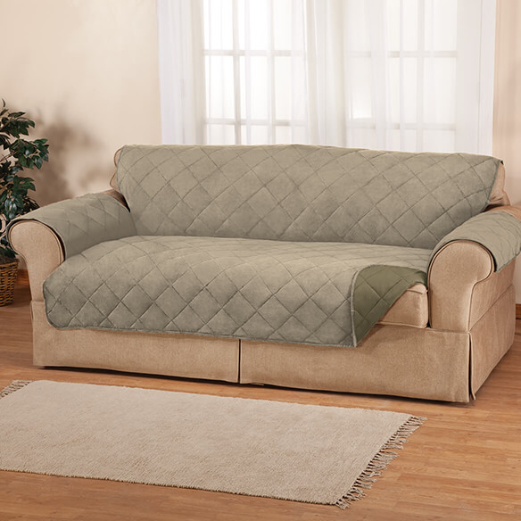 Naomi Suede-Microfiber Loveseat Cover by OakRidge™ - View 4