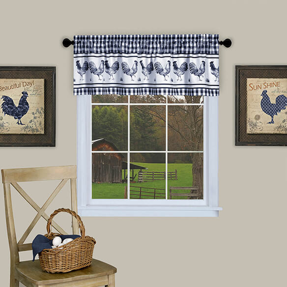 Barnyard Rooster Tier and Valance Set - View 2