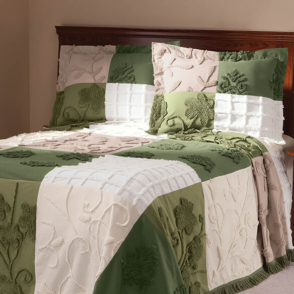 Patchwork Bedspread/Sham Queen Sage by OakRidge™ - View 2