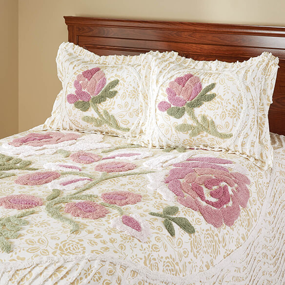Helen Chenille Bedspread/Sham Twin by OakRidge™ - View 2
